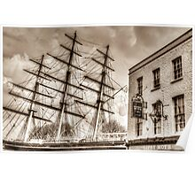 The Cutty Sark and Gipsy Moth Pub Greenwich Poster