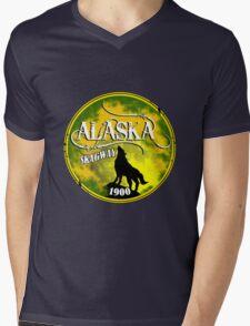 Skagway Alaska Wolf Mens V-Neck T-Shirt