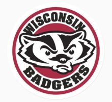 "College University ""Wisconsin Badgers"" Sports Baseball Basketball Football Hockey by artkrannie"