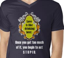 Love And Beer Mens V-Neck T-Shirt
