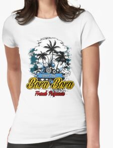 Bora Bora Beach Day Womens Fitted T-Shirt
