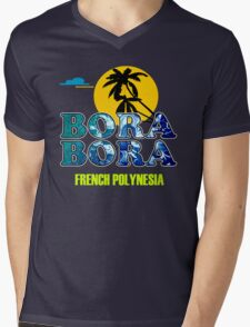 Bora Bora Beach Mens V-Neck T-Shirt