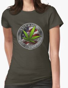 America is Pro Cannabis Womens Fitted T-Shirt