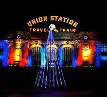 Union Station at Christmas - Denver Colorado by Christine  McClintock