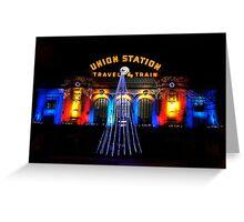 Union Station at Christmas - Denver Colorado Greeting Card