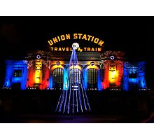 Union Station at Christmas - Denver Colorado Photographic Print