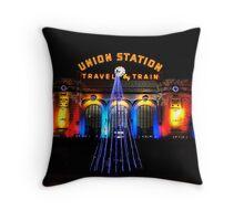 Union Station at Christmas - Denver Colorado Throw Pillow