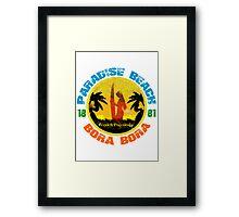 Bora Bora Surf Paradise Framed Print