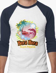 Bora Bora Nice Land Men's Baseball ¾ T-Shirt