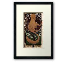Raptor-Nouveau Framed Print