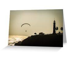 Hang Gliding at lima's sunset Greeting Card