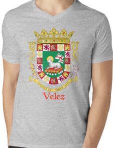 Velez Shield of Puerto Rico Mens V-Neck T-Shirt