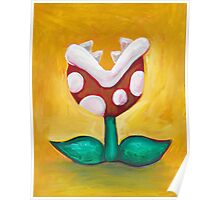 Piranha Plant on Red Poster