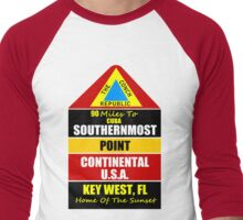 Key West Conch Republic Men's Baseball ¾ T-Shirt