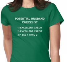 Potential Husband Checklist Womens Fitted T-Shirt