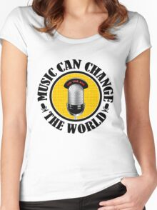 Music Can Change Te World Women's Fitted Scoop T-Shirt