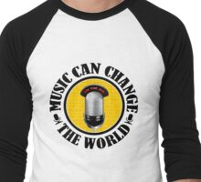 Music Can Change Te World Men's Baseball ¾ T-Shirt