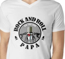 Papa Rock And Roll Mens V-Neck T-Shirt