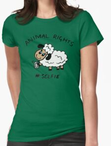 Selfie for Animal Rights Womens Fitted T-Shirt