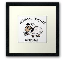 Selfie for Animal Rights Framed Print