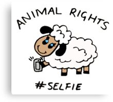 Selfie for Animal Rights Canvas Print