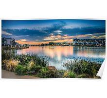 Lake Caroline Sunset Poster