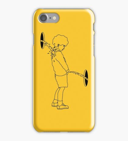 Kid with pee iPhone Case/Skin