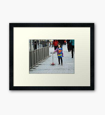Superwoman ! Framed Print