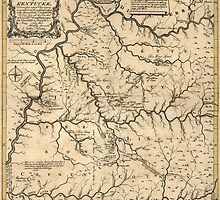 Antique Map of Kentucky from 1784 by bluemonocle