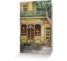 The Yellow Cafe Greeting Card