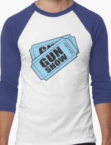 Two Tickets to the Gun Show Men's Baseball ¾ T-Shirt