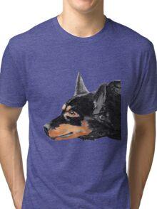 Australian Kelpie Black Portrait Tri-blend T-Shirt