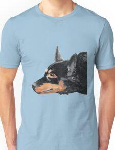 Australian Kelpie Black Portrait Unisex T-Shirt