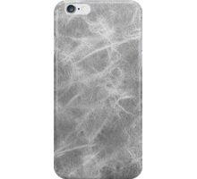 Grey leather texture closeup iPhone Case/Skin