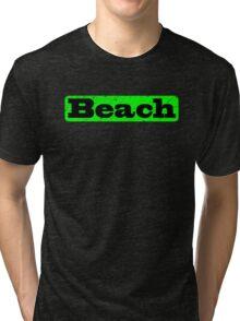 Beach Green Tri-blend T-Shirt
