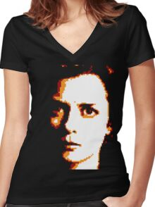 Freddie Lounds Transparent Women's Fitted V-Neck T-Shirt
