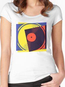 Pop Art Vinyl Record Women's Fitted Scoop T-Shirt