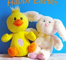 Happy Easter Chick & Bunny by Susan S. Kline