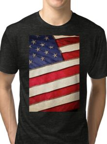 Patriotic American Flag Tri-blend T-Shirt