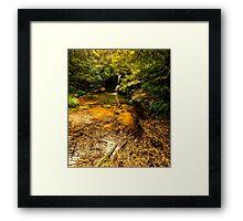 Hunts Creek Waterfall Framed Print