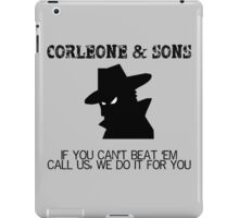 Corleone & Sons - If you can't beat them iPad Case/Skin
