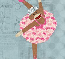 Sock Monkey Ballerina by Janet Carlson