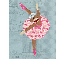 Sock Monkey Ballerina Photographic Print