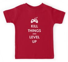 Kill Things and Level Up Kids Tee