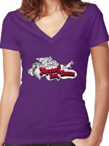 Mystery Fun House Women's Fitted V-Neck T-Shirt