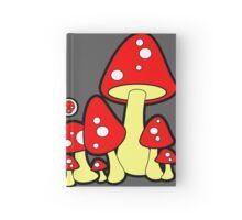 Mushrooms Red Hardcover Journal