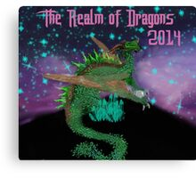 The Realm of Dragons  Canvas Print