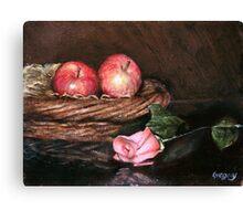 Apples in Basket Canvas Print