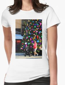 Out For A Stroll Womens Fitted T-Shirt