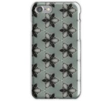 black and white flower pattern iPhone Case/Skin